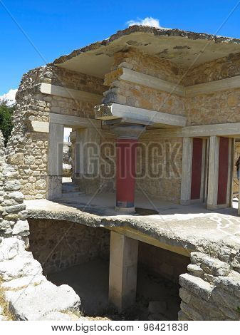 Ancient Ruins Of Knossos Palace