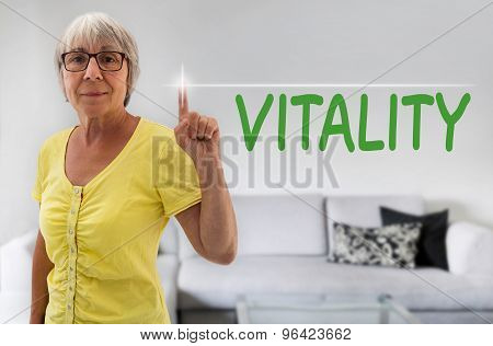 Vitality Touchscreen Is Shown By Senior