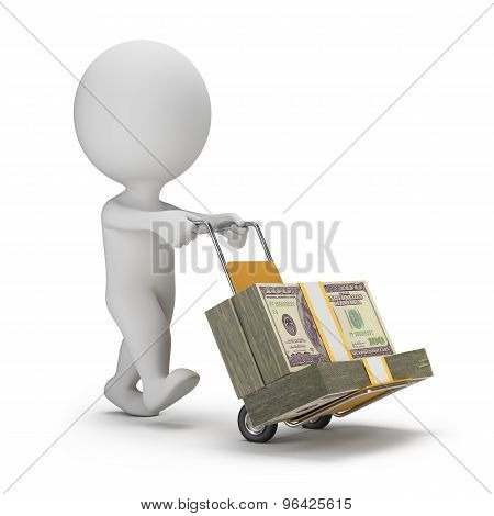 3D Small People - Money Truck