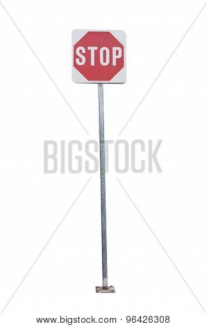 Street stop sign isolated on white background