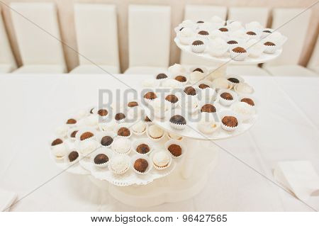 Cupcakes And Sweets On Wedding Reception