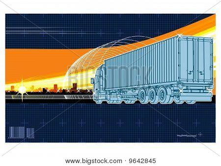 Fondo del tema de logística Vector
