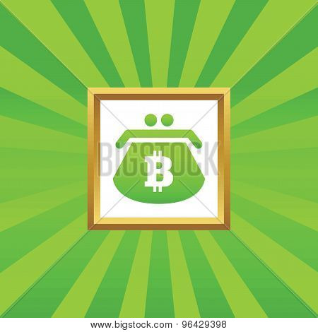 Bitcoin purse picture icon