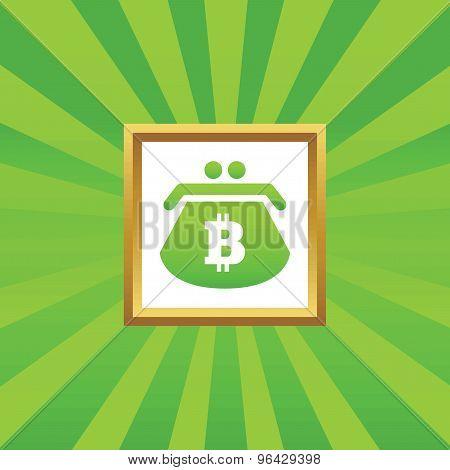 Bitcoin purse picture icon