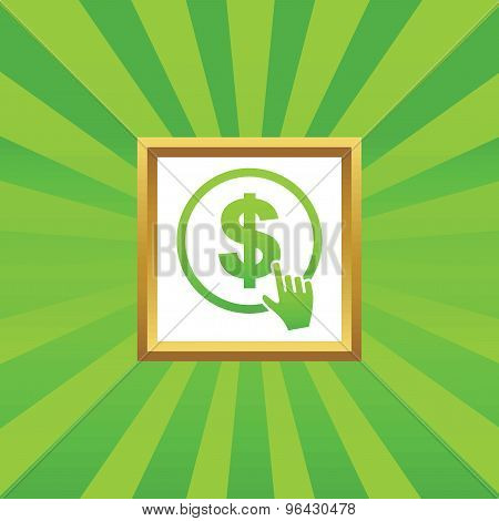 Click on dollar picture icon