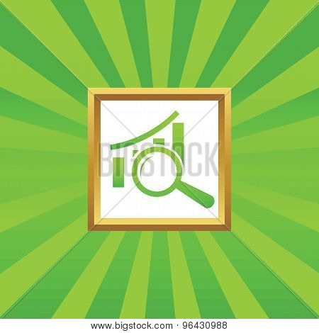Graphic examination picture icon