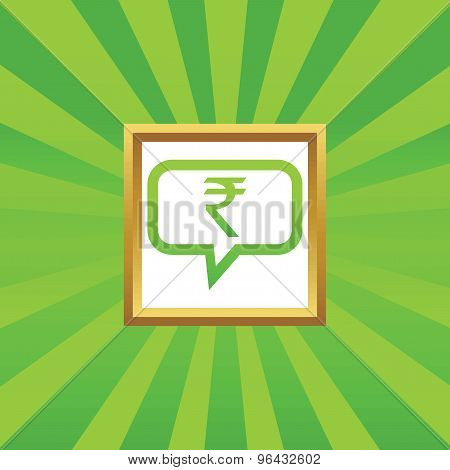 Rupee message picture icon