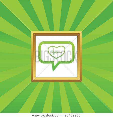 Cardiology message picture icon