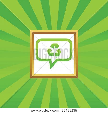 Recycle message picture icon