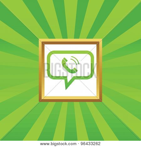 Calling message picture icon