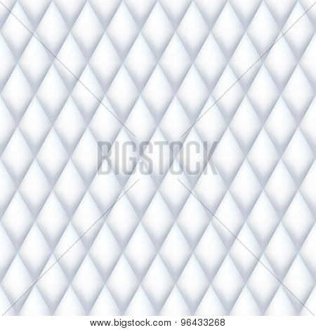 Quilted seamless pattern. White color.