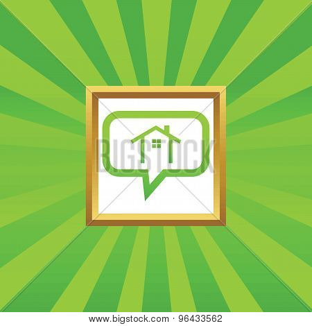 Cottage message picture icon