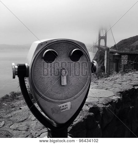Coin operated binoculars, Golden Gate bridge, San Francisco