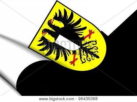Flag Of Friedberg (friedberg In Der Wetterau), Germany.
