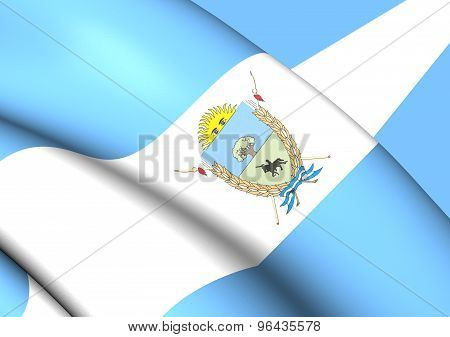 Flag Of La Pampa Province, Argentina.
