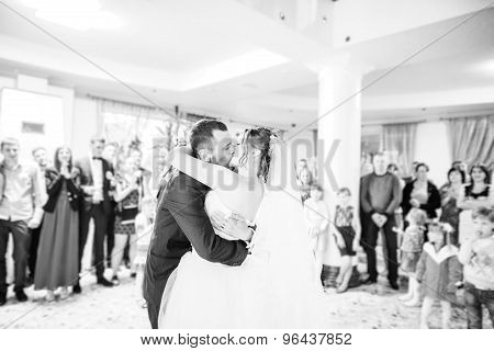 First Wedding Dance On Heart Of Flowers
