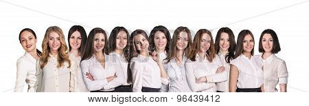 Businesswomen lineup