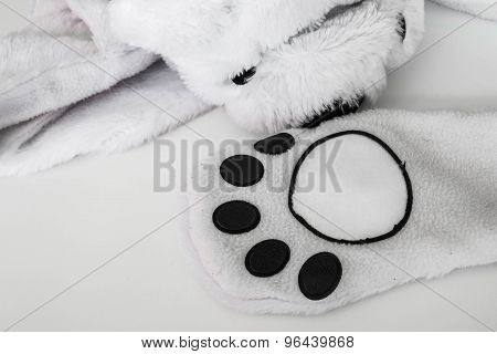 Abstract animal paw, part of clothes