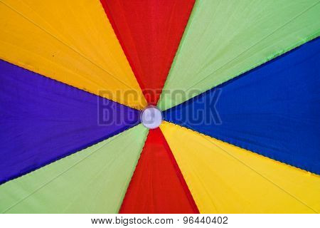 Abstract colorful part of umbrella texture background