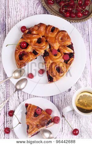 Pie From Fresh Berries