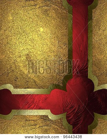 Abstract Background With Gold Plates. Element For Design. Template For Design. Abstract Grunge Backg