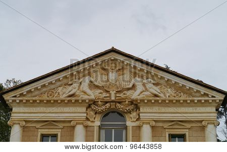 A sculptural detail of the villa Maser