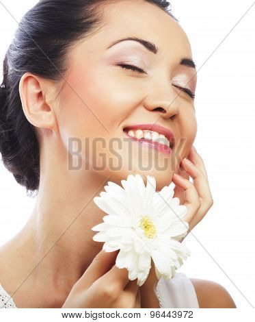 Fresh health asian woman with white gerber