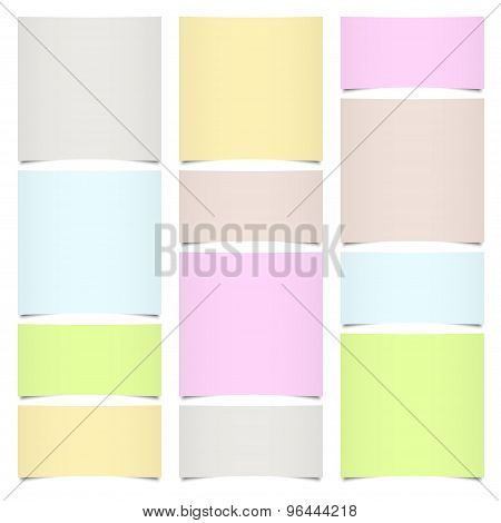 Little Sticky Paper Different Colors