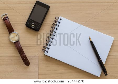 Still life of objects on a table