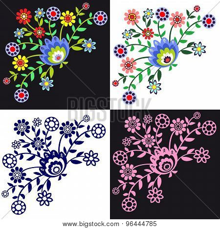 Folk pattern flowers-2