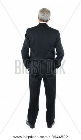 Businessman With Hands In Pocket From Behind