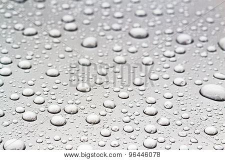 Blurry Of Drop Water On Floor