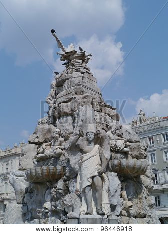 Four Continents fountain in Trieste