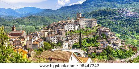 view of medieval Arsoli, Italy (Lazio province)