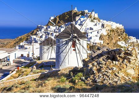 windmills of Greece. Serifos island, Cyclades
