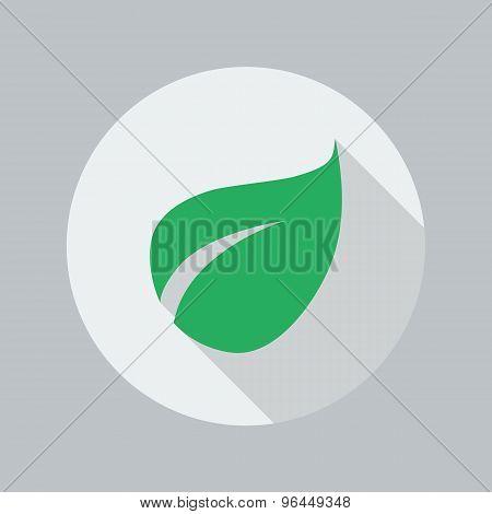 Eco Flat Icon. Leaf