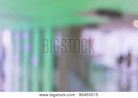 Abstract background of shopping mall, shallow depth of focus.