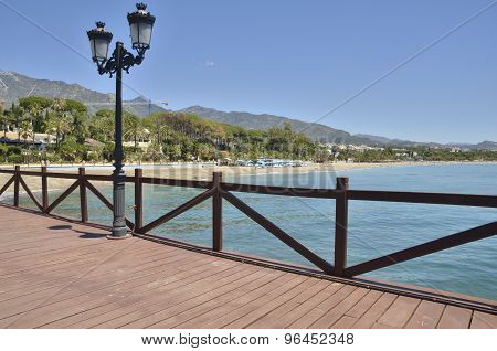 Wooden Pier In Marbella