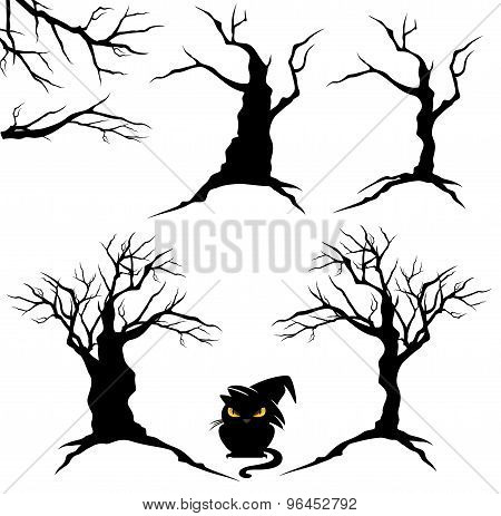 Halloween Trees Set