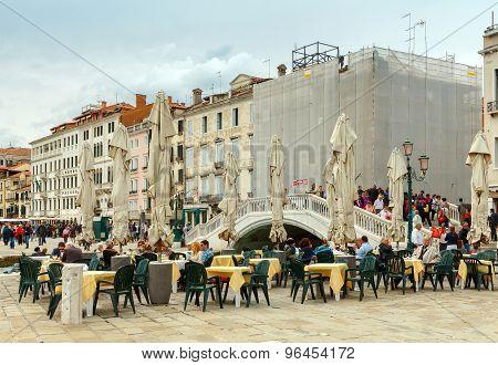 Venice. Street Cafe.