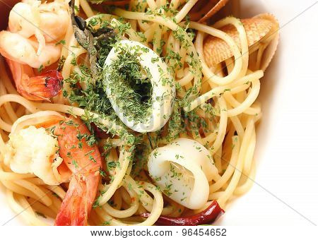 spagetti spicy seafood