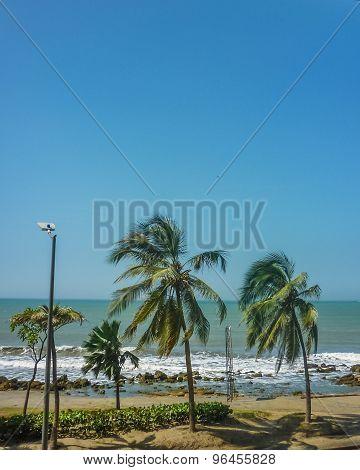 Caribbean Sea In Cartagena Colombia