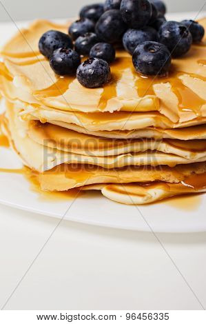 american pancakes on white table