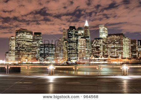 Manhattan Skyline At Night