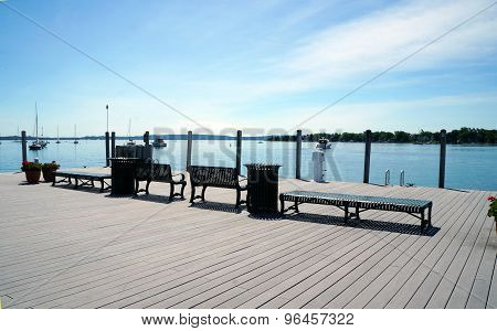 Benches on the Dock