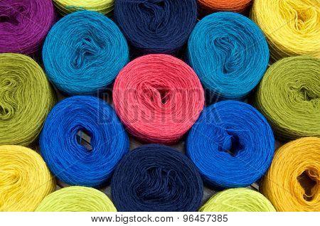 Yarn Balls Close-up