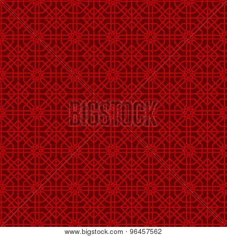 Seamless Chinese window tracery polygon geometry line pattern background.
