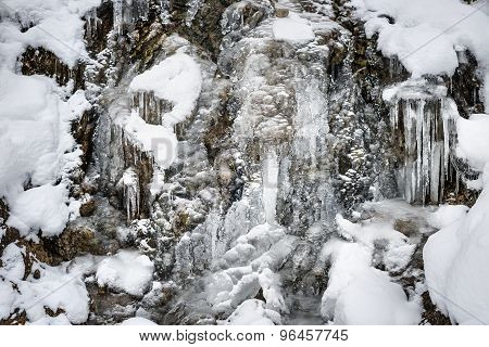 Waterfall With Snow Bavaria