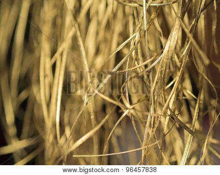 Golden Straw Background