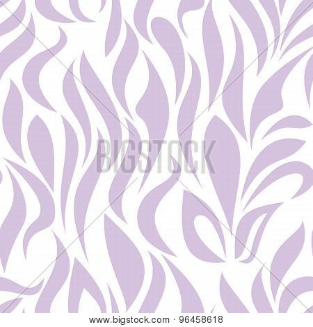 Seamless Pattern With Lilac Tracery On A White Background